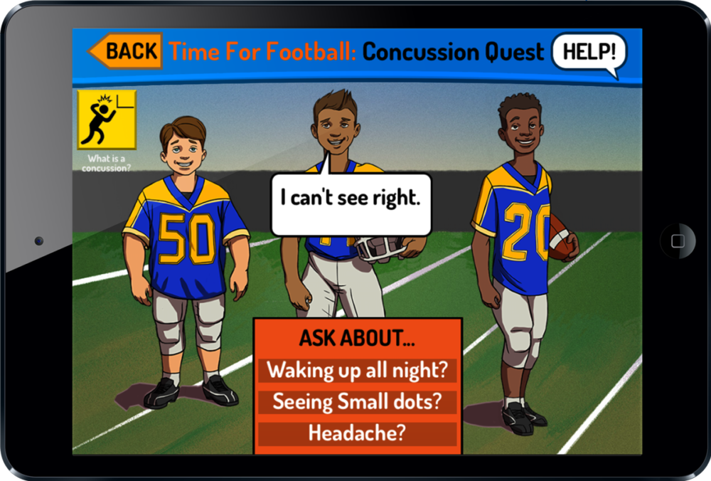 Concussion Quest Youth Football Safety Game