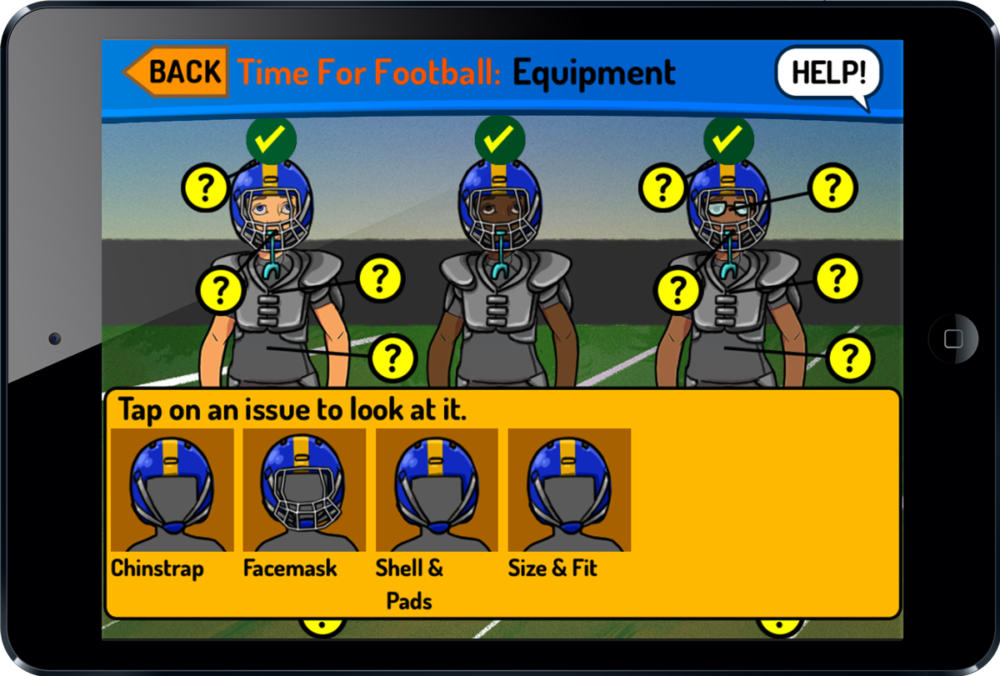 Get your knee pads, facemask, helmet, and football equipment fitted right with SportzSafe's youth football sports game