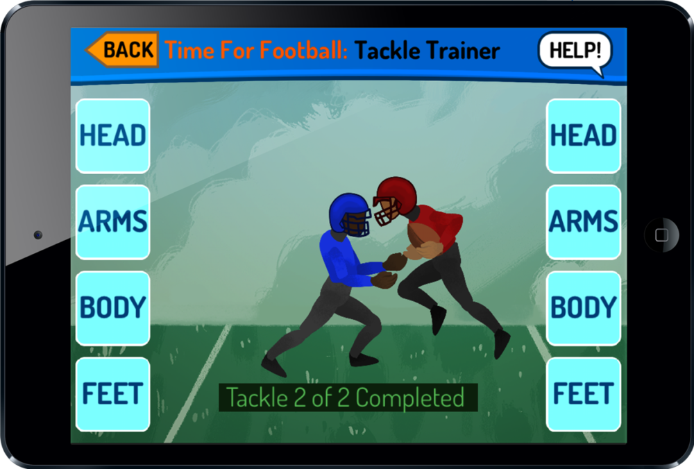 Youth Football Tackling Trainer on iPad
