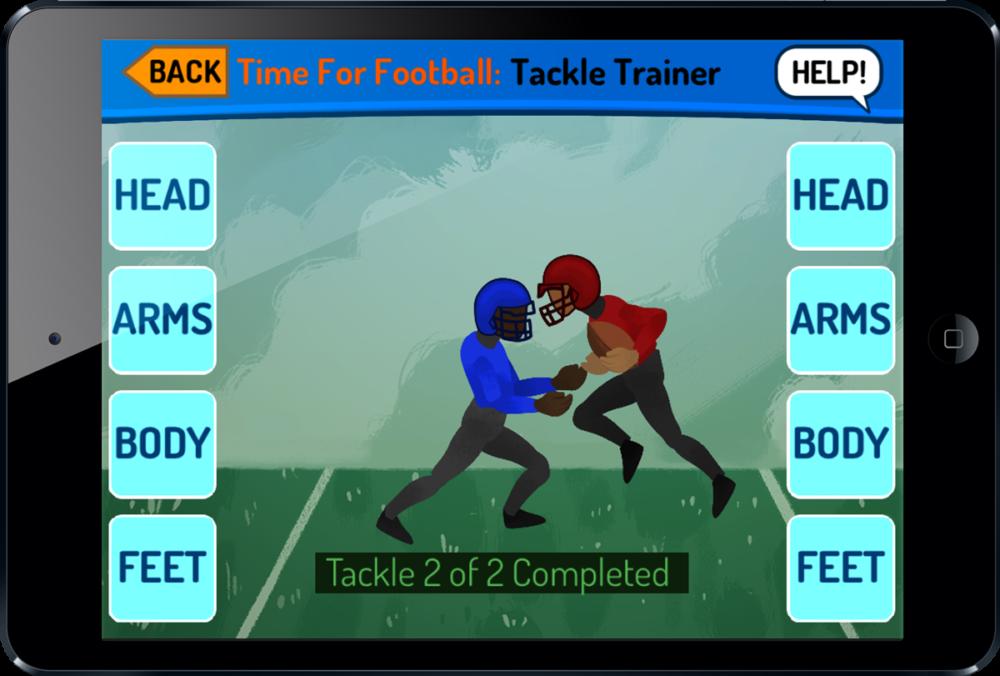 Youth Football Tackling Trainer on iPad